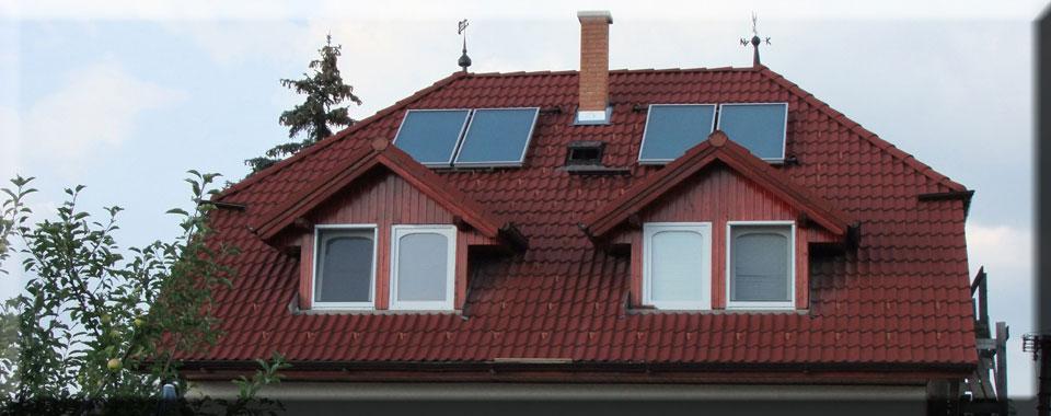 Napkollektoros megoldások családi házon