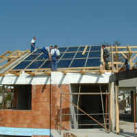 Napkollektor felszerelése